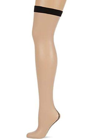 Fiore di Lucia Milano Women's Provoke/Storia Suspender Stockings, 20 DEN, (Linen)