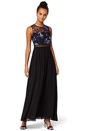 TRUTH & FABLE Amazon Brand - Women's Maxi Chiffon A-Line Dress, 14