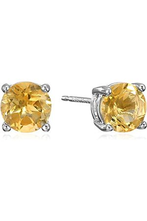 Amazon Sterling Silver Round Citrine Birthstone Stud Earrings (November)