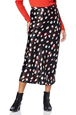 FIND Amazon Brand - Women's Midi Satin A-Line Dress, 12