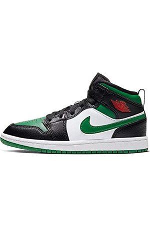 Nike Boys' Jordan 1 Mid (ps) Basketball Shoe, /Pine / /Gym