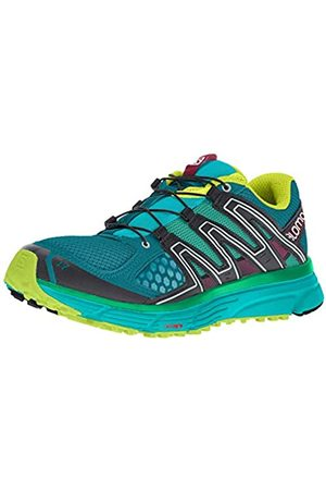 Salomon Women's X-Mission 3W Trail Running Shoes, (Deep Lagoon/Bluebird/Acid Lime)