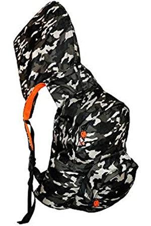 Morikukko Unisex-Adult Hooded Backpack Kool Camouflage Neon Backpack (Camouflage )