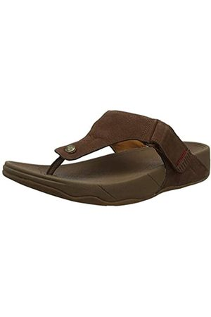 FitFlop Men's TRAKK II-Nubuck Flip Flops, (Chocolate 167)