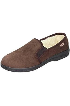 Manitu Men's 240031 Open Back Slippers, (Braun 2)