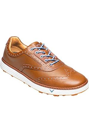 Callaway Men's Del Mar Retro Waterproof Spikeless Golf Shoes, Tan/ )