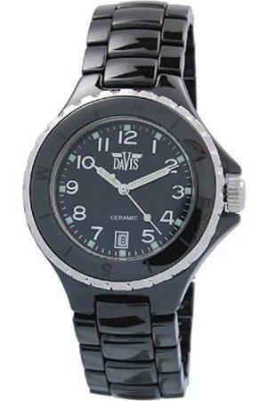 Davis Elegance Ceramic Quartz Watch, Waterproof, with Chronograph