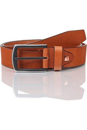 Lindenmann The Art of Belt Mens leather belt/Mens belt, full grain leather belt with texture, unisex, cognac, Größe/Size:115