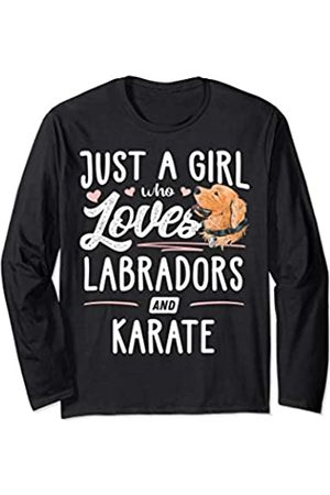 Labradors Memme Just A Girl Who Loves Labradors And Karate Gift Women Long Sleeve T-Shirt