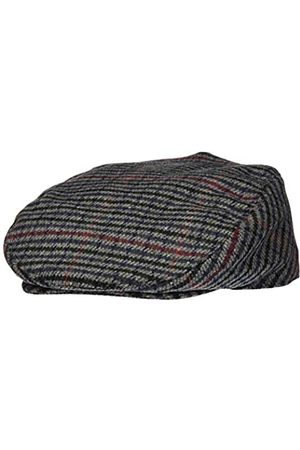 Shropshire Supplies Mens Flat Cap Wool Blend Fully Lined Tweed Dogstooth Houndstooth Herringbone (58cm)