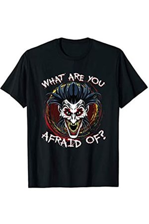 BUBL TEES What Are You Afraid Of? Halloween Scary Clown T-Shirt