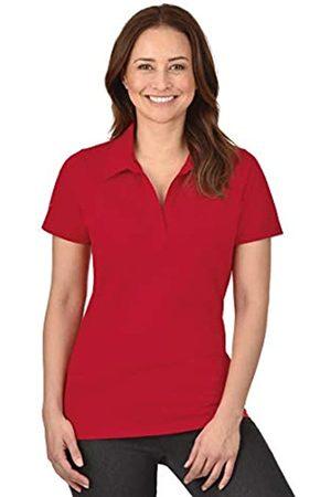 Trigema Women's Short Sleeve Polo Shirt - - Kirsch - XX-Large