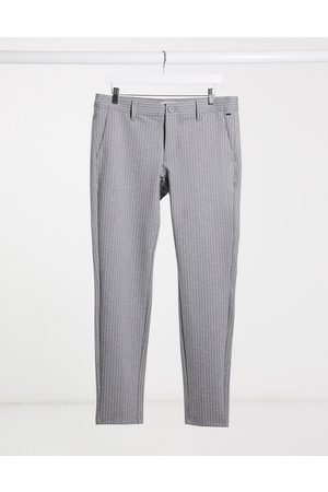Only & Sons Trousers - Stretch smart trouser in pinstripe