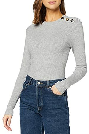 New Look Women's OP FG BUTTON STAND NECK Sweater