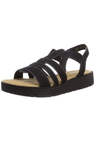 Rieker Kinder Girls Teens Ankle Strap Sandals Schwarz (Schwarz 01) Size: 37 EU