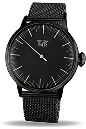 Davis Single Hand - Men's Single Hand Watch Design Regulator ( Steel/Mesh)