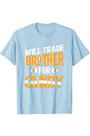 BUBL TEES Will Trade Brother For Candy Funny Halloween T-Shirt