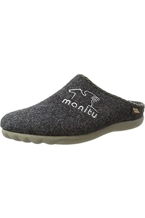 Manitu Men's 220247 Open Back Slippers, (Anthracite)