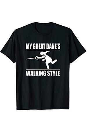 ToonTyphoon Humorous Great Dane ( Women ) Walking Style T-Shirt