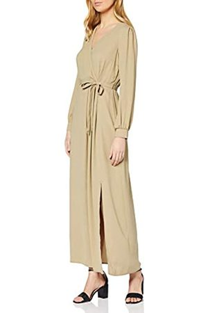 Dorothy Perkins Women's Khaki Wrap Maxi Dress