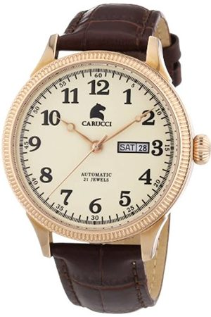 Carucci Self-Winding Watches Men's Watch XL Analogue Automatic CA2209RG Stainless Steel