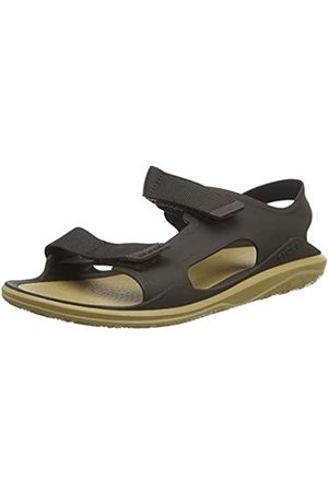 Crocs Men's Swiftwater Molded Expedition Sandal Open Toe, (Espresso/Tan 2i1)