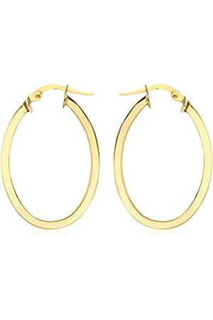 Carissima Gold Women's 9 ct Oval Creole Earrings