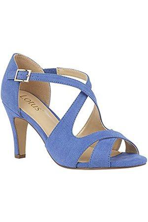 Lotus Women's Sadia Open Toe Heels, Turquoise (Cornflower )
