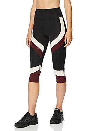 AURIQUE Amazon Brand - Women's Colour Block Cropped Sports Leggings, 8