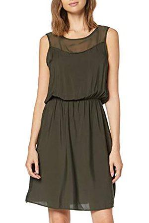 Vero Moda Women's Vmdepo S/l Mesh Yoke Dress Exp