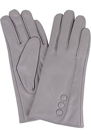 "Snugrugs Womens Butter Soft Premium Leather Glove with Classic Triple Button Stitch Detail & Warm Fleece Lining (Medium (7""))"