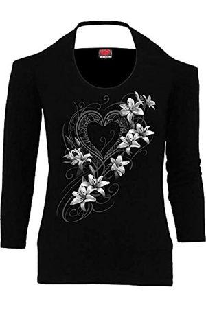 Spiral Spiral - Pure of Heart - Scoop Halter-Neck Long Sleeve Top - XL