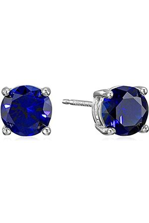 Amazon Sterling Silver Round Created Sapphire Birthstone Stud Earrings (September)