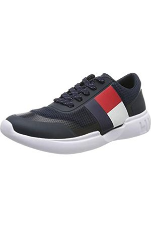 Tommy Hilfiger Men's Corporate Knit Modern Runner Low-Top Sneakers, (Midnight 403)