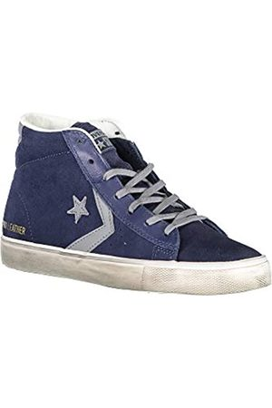 Converse Unisex Adults' Lifestyle Pro Leather Vulc Distressed Mid Low-Top Sneakers, (Athletic Navy/Mason/Turtledove 406)
