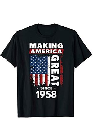 Funny 61st Birthday Gift Ideas Store Making America Great Since 1958 T-Shirt