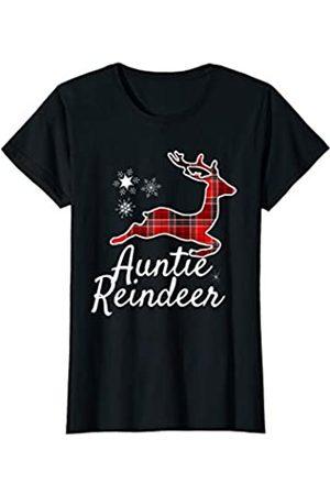 Rex Matching Family Xmas Outfit Set Men Women Kids Womens Plaid Aunt Auntie Reindeer Christmas Red Black Pajamas PJs T-Shirt