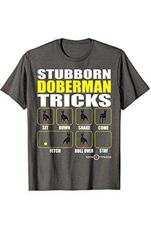 ToonTyphoon Smile Raising Stubborn Doberman Tricks T-Shirt