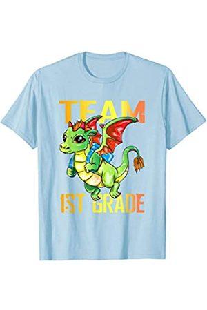 BUBL TEES Team 1st Grade Dragon Back To School T-Shirt