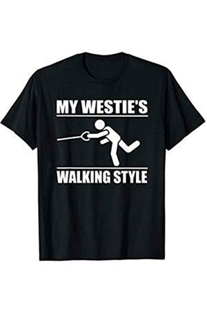 ToonTyphoon Amusing West Highland White Terrier Walking Style T-Shirt