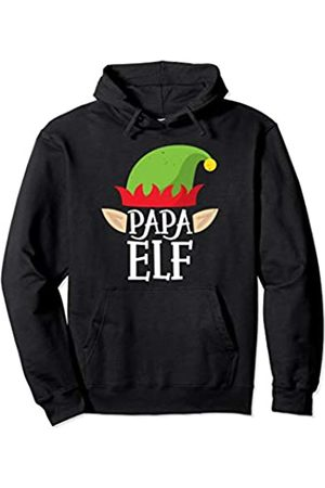 Awesome Christmas Elf Family Co Papa Elf Funny Christmas Family Matching Pajamas Elves Men Pullover Hoodie