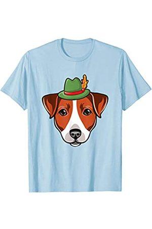 BUBL TEES Jack Russell Dog German Alpine Hat Oktoberfest T-Shirt