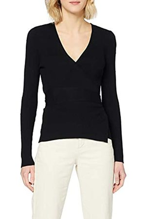 Dorothy Perkins Women's Textured Spot Wrap Jumper Pullover Sweater