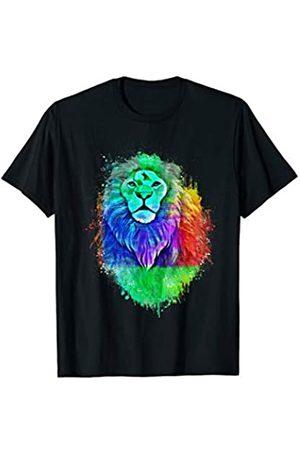 My Shirt Hub King of the Jungle Retro Vintage Splash Pop Art | Lion Head T-Shirt