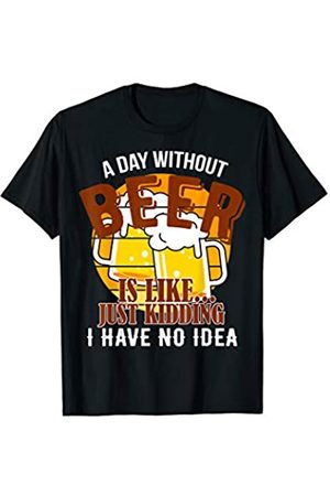 My Shirt Hub Funny Beer Lover Gift Cool Retro Vintage A Day Without Beer T-Shirt