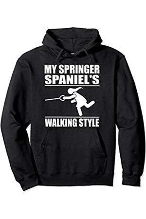 ToonTyphoon Humorous Enlgish Springer Spaniel ( Women ) Walking Style Pullover Hoodie