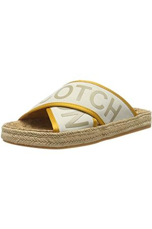 SCOTCH & SODA FOOTWEAR Women's Angle Mules, (Ivory S21)