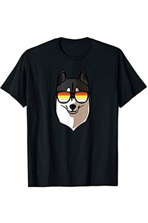 Paw Lovers by Mezziteez Gay Siberian Husky with Sunglasses - Cute Gay Pride Dog T-Shirt