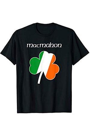 Irish Surname Family Apparel Gifts MacMahon Irish Last Name Gift Ireland Flag Shamrock Surname T-Shirt