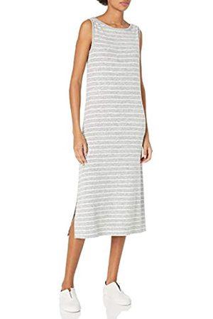 Daily Ritual Cozy Knit Sleeveless Bateau Neck Column Dress